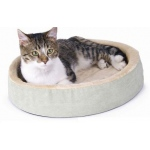 "K&H Pet Products Thermo-Kitty Cuddle Up Bed Sage 16"" x 16"" x 3"""
