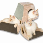 "K&H Pet Products Thermo Kitty Cabin Mocha 16"" x 16"" x 13"""