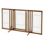 "Richell Premium Plus Freestanding Pet Gate with Door: Brown, 34"" - 63"" x 26"", 20.5"" x 32"""