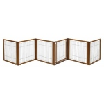 "Richell Convertible Elite Pet Gate: 6-Panel, Autumn Matte, 197.5"" x .8"" x 31.5"""