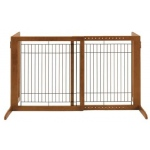 "Richell Freestanding Pet Gate: Autumn Matte, HS, 28.3"" - 47.2"" x 23.6"" x 27.6"""