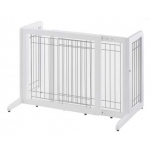"Richell Freestanding Pet Gate: White, Small, 26.4"" - 40.2"" x 17.7"" x 20.1"""