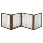 "Richell Convertible Elite Pet Gate: 4-Panel, Autumn Matte, 130"" x .8"" x 31.5"""