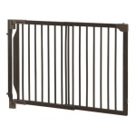 "Richell Expandable Walk-Thru Pet Gate: Coffee Bean, 31.5"" - 47.2"" x 2"" x 32.3"""