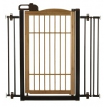 "Richell Také One-Touch Pet Gate: Bamboo, 28.3"" - 35.8"" x 2"" x 34.6"""