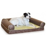 "K&H Pet Products Thermo-Cozy Sofa: Milk Chocolate, Small, 25"" x 19"" x 8"", 4 Watts"