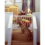 "North States Stairway Swing Gate: 28"" - 42"" x 30"""