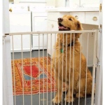 "Cardinal Gates Duragate Hardware Mounted Dog Gate White 26.5"" - 41.5"" x 1.5"" x 29.5"""