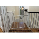 "Cardinal Gates Stairway Special Hardware Mounted Pet Gate Black 27"" - 42.5"" x 1.5"" x 29.5"""
