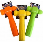 "Ruff Dawg Ruff Tools Hammer Dog Toy Assorted Colors 8.5"" x 3.5"" x 1"""