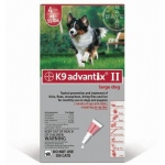 K9 Advantix II Flea and Tick Control for Dogs: 20-55 lbs, 6 Month Supply