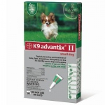 K9 Advantix II Flea and Tick Control for Dogs: Under 10 lbs, 4 Month Supply