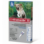 K9 Advantix II Flea and Tick Control for Dogs: Over 55 lbs, 4 Month Supply