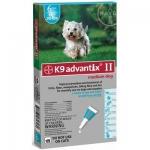 K9 Advantix II Flea and Tick Control for Dogs: 10-22 lbs, 6 Month Supply