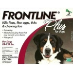 Frontline Flea Control Plus for Dogs and Puppies: 89-132 lbs, Pack of 6