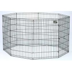 "Midwest Black E-Coat Pet Exercise Pen 8 Panels Black 24"" x 30"""