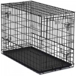 "Midwest Solutions Series Side-by-Side Double Door SUV Dog Crates Black 36"" x 21"" x 26"""