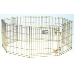 "Midwest Gold Zinc Pet Exercise Pen 8 panels Gold 24"" x 24"""