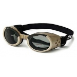 Doggles ILS Dog Sunglasses Small Chrome / Smoke