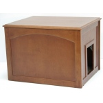 Crown Pet™ Cat Litter Cabinet: Mahogany
