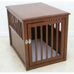 Crown Pet™ Pet Crate: Mahogany, Large