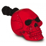 Rugged Rubber Skull: Red, Extra Small