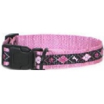 Color Pet™ Eli & Elouise Argyle Pink Collar: Small