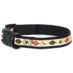 Color Pet™ Eli & Elouise Argyle Tan Collar: Medium Wide