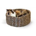 "K&H Pet Products Lazy Cup: Leopard, Small, 16"" x 16"" x 7"""