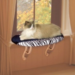 "K&H Pet Products Kitty Sill Zebra 14"" x 24"" x 9"""