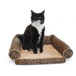 "K&H Pet Products Lazy Lounger Cat Bed Leopard 14"" x 16"" x 5.5"""