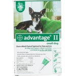 Advantage Flea Control for Dogs and Puppies: Under 10 Pound, 4 Month Supply