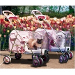 "Kittywalk 5th Ave Pet Stroller  Pink 26"" x 14"" x 35.5"""