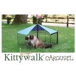 "Kittywalk Carousel Outdoor Cat Enclosure Green 48"" x 48"" x 24"""