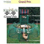 "Kittywalk Grand Prix: 86"" x 70"" x 5"""