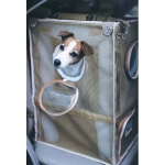 "Kittywalk Cozy Cabin Pet Car Seat Taupe 17"" x 17"" x 24"""