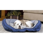 "K&H Pet Products Bolster Couch Pet Bed Small Blue / Gray 21"" x 30"" x 7"""
