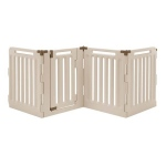 "Richell Convertible Indoor/Outdoor Pet Playpen: 4 Panel, Soft Tan/Mocha, 33.1"" x 33.1"" x 36"""