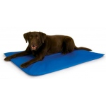 "K&H Pet Products Cool Bed III Thermoregulating Pet Bed Medium Blue 22"" x 32"" x 0.5"""