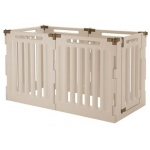 "Richell Convertible Indoor/Outdoor Pet Playpen 6 Panel Tan / Mocha 127.6"" x 33.1"" x 36"""
