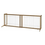 "Richell Také Freestanding Pet Gate: Coffee Bean, 40.4"" - 70.5"" x 20.1"" x 24"""