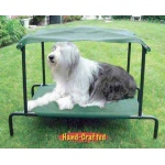 "Puppywalk Breezy Bed Outdoor Dog Bed Green 48"" x 39"" x 39"""