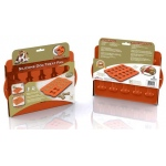 "Hugs Pet Products Silicone Baking Tray - Dog Bone Orange 12"" x 10"""