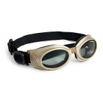 Doggles Originalz Dog Sunglasses Large Chrome / Smoke