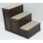 Crown Pet™ Pet Steps-3 with Storage: Espresso