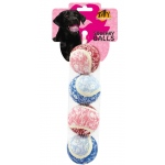 Silly Squeakers Tennis Ball: Flower, Small, Pack of 4