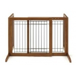 "Richell Freestanding Pet Gate: Autumn Matte, Small, 26.4"" - 40.2"" x 17.7"" x 20.1"""