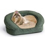 "K&H Pet Products Deluxe Ortho Bolster Sleeper Pet Bed Small Green 20"" x 16"" x 8"""