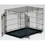 "Midwest Life Stages Double Door Dog Crate Black 30"" x 21"" x 24"""