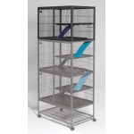 "MidWest Homes for Pets Ferret Nation Add-On Single Unit Platinum: Gray Hammertone, 36"" x 25"" x 24"""